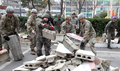 지진 복구 작업에 나선 한·미 육군