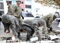 지진 복구에 나선  한·미 육군