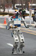 평창올림픽 위해 성화봉송 특별주자로 나선 '휴보' 로봇