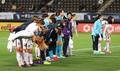 고개숙인 여자축구 선수들...북한에 0-1 패배