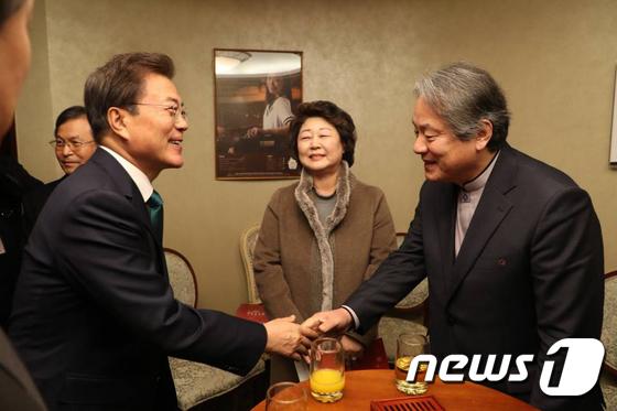 한국기독교교회협의회 대표 만난 문재인 대통령
