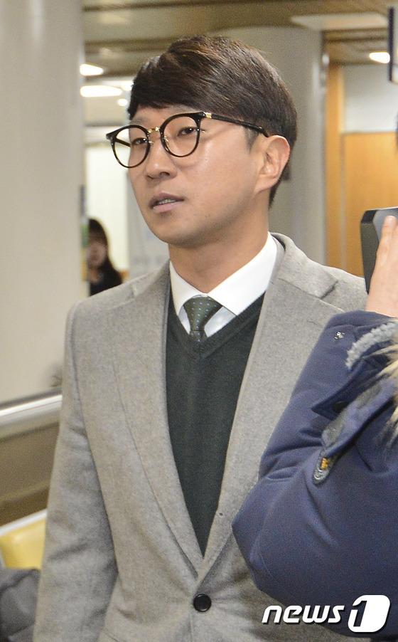이규혁, 최순실 국정농단 재판 출석