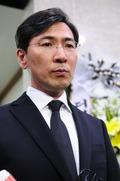 안희정 '권양숙 여사 모친 빈소 조문'