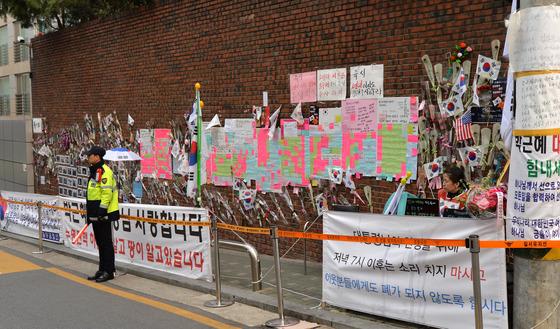 박 전 대통령 지지자들 사라진 삼성동 자택 앞