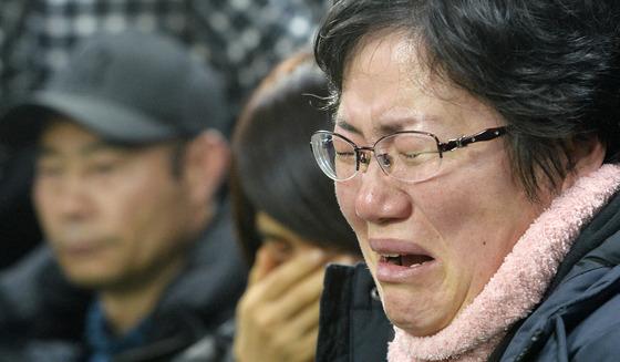 세월호 인양 '엄마의 눈물'