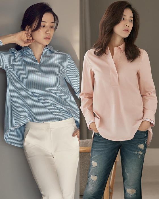'돌아온 안방퀸' 이보영, 봄 셔츠 스타일링 제안