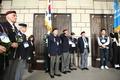 추모명비 앞에 선 유엔 참전용사들