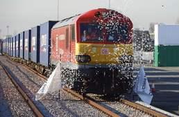 英-中 잇는 '실크로드 열차'…20일 만에 중국 도착