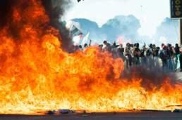 전쟁같은 브라질 반정부 시위
