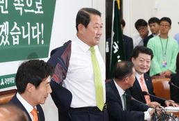 박주선 '벗고 회의 합시다'