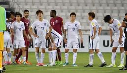 축구대표팀 도하 참사...러시아 월드컵 탈락위기