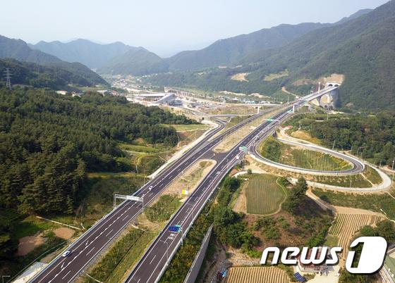 오는 30일 개통하는 동홍천~양양 고속도로