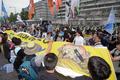사드 반대 외치는 시민들