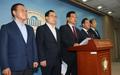 국정기획자문위회의 관련 기자회견하는 이현재 의원