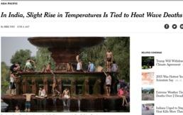 지구 온난화로 인한 더위 때문에 인간수명 짧아진다
