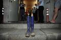 충북도의원 기자회견장 앞에 놓여진 장화
