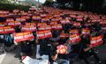 현대·기아차 그룹 계열사 본사 앞 집회