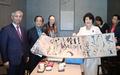 김정숙 여사, 중국의 피카소 치바이스 전시 관람