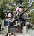 K-1 전차 탄 추미애, '안보전선 이상무'