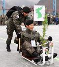 화천산천어축제 등장한 '국군 썰매'