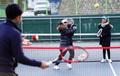 '한겨울에도 테니스 붐'