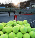 '한겨울에 부는 테니스 열풍'