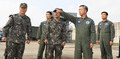 공군 1전비 군사대비태세 점검하는 이왕근 공군참모총장