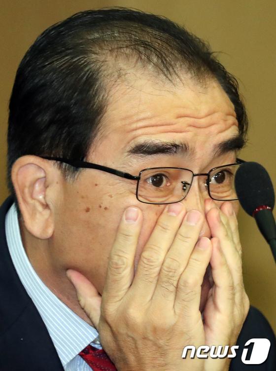 북한인권법 개선 정책 세미나 참석한 태영호 전 북한 공사