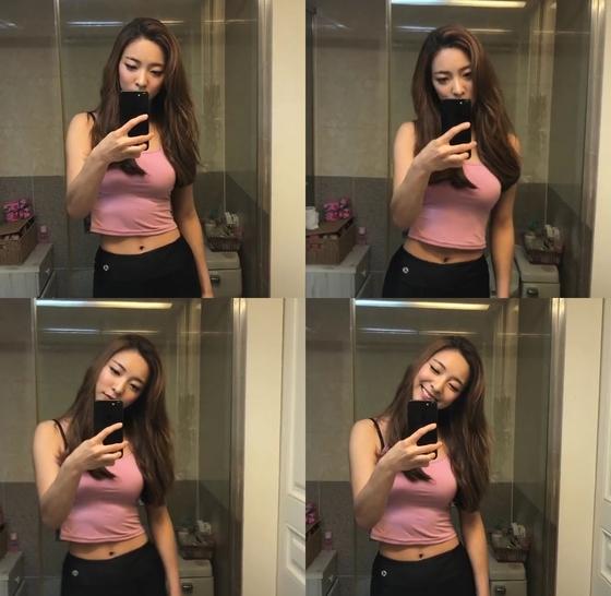 [N샷] '다이어트 성공' 루나, 크롭티 입고 몸매 과시