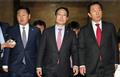 나란히 걷는 김관영·홍영표·김성태