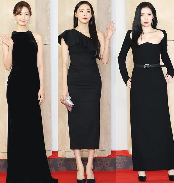 아이유·윤아·수지·쯔위…'2018 AAA' 레드카펫 빛낸 '화려 드레스룩'