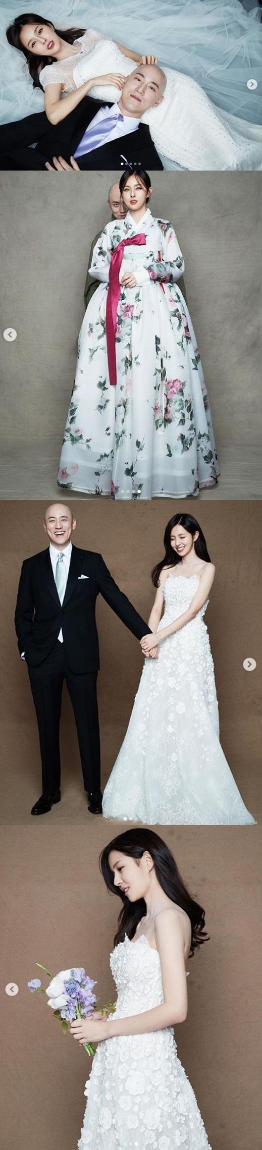'두산家 며느리' 조수애 前아나, 달달 웨딩화보 공개