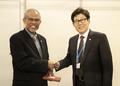 싱가포르 환경수자원부장관 만난 조명래 장관