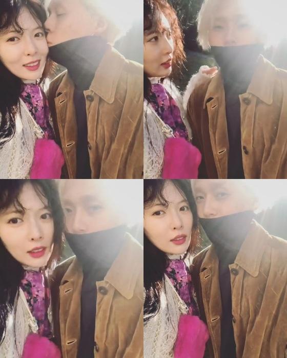 [N샷] 현아♥이던, 뽀뽀 영상 공개…애교에 이던 '미소'