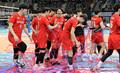 시즌 첫 승리한 한국전력