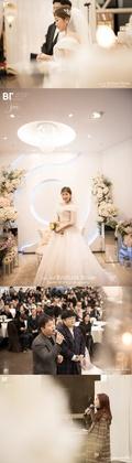 이수지♥3세 연하 신랑, 결혼식 공개 '행복한 신부'