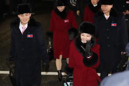 북한 선수단 입촌으로 후끈 달아오른 올림픽 선수촌