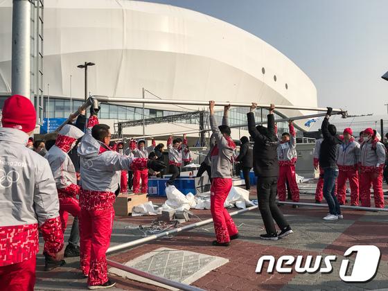 강릉 강풍에 올림픽파크 검색대 철거