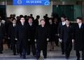 北 고위급 대표단, 도라산 남북출입사무소 도착