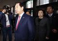 경찰청 항의 방문하는 자유한국당
