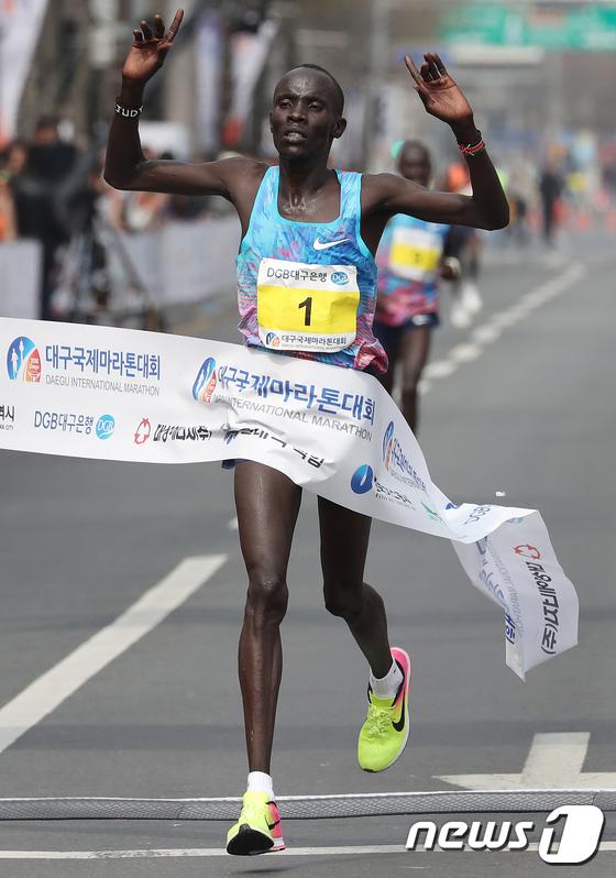케냐 아브라함 킵툼 '2018 대구국제마라톤 1위'