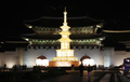 광화문광장 석가탑 점등 '지혜와 자비로 세상을 아름답게'