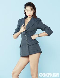 '재킷만 걸쳐도 섹시' 한혜진, 무결점 몸매 눈길 [화보]