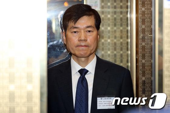 \'굳은 표정\' 김태한 삼성바이오로직스 대표