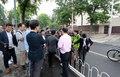 주중 북한대사관 앞에 무슨일이?
