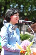 동화사 봉축대법회 축사하는 추미애 대표