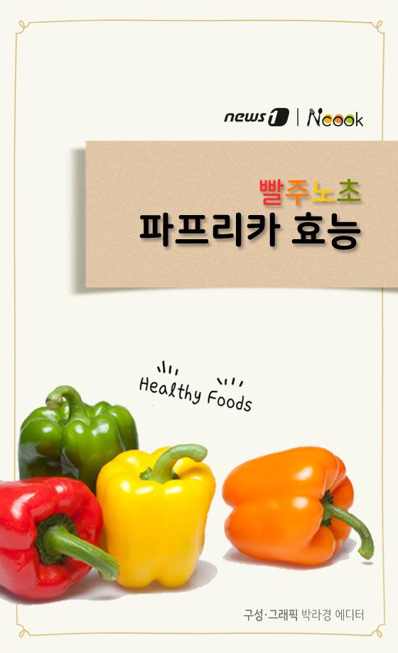 [카드뉴스][건강N쿡] 빨주노초 '파프리카의 색깔별 효능'