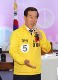 정책선거 다짐하는 이홍우 후보