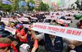 최저임금 개악 저지 위해 국회 앞 모인 민주노총