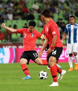 축구대표팀, '가상 멕시코' 온두라스 2:0 완파